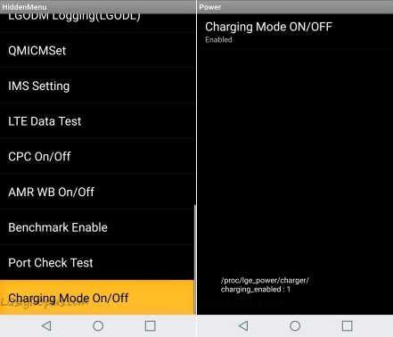 LG Stylo 3 Plus Charging Mode ON OFF